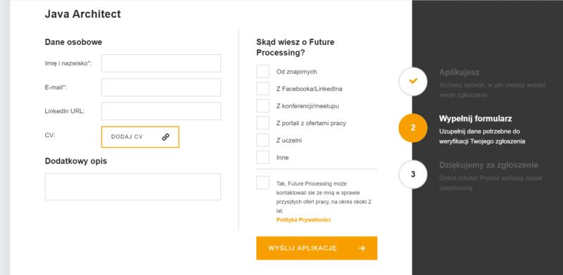 Formularz aplikacyjny FP